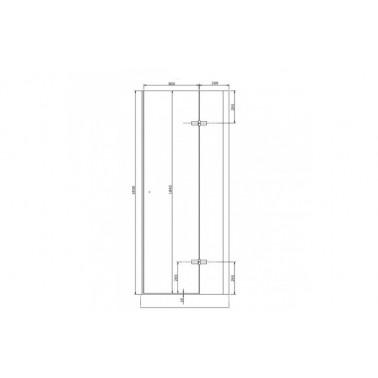 Perfil rectangular blanco para puerta de cristal derecha de 80 mm marca Unisan
