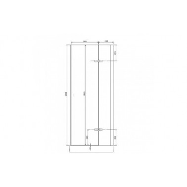 Perfil rectangular cromo para puerta de cristal derecha de 80 mm marca Unisan