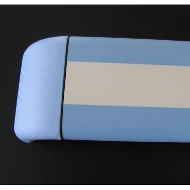 Pasamanos-Paragolpes lineal de aluminio con recubrimiento de PVC dos colores