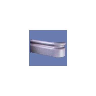 Pasamanos-Paragolpes lineal con forma anatómica de aluminio con recubrimiento de PVC