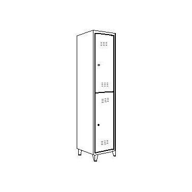 Taquilla metálica 1 cuerpo y 2 puerta 1800X300X500