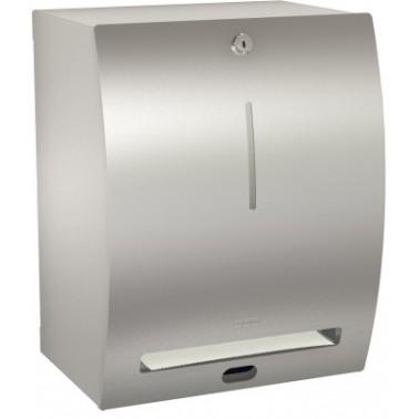 Dispensador de toallas de papel electrónico de acero inoxidable acabado satinado modelo STRATOS marca Franke