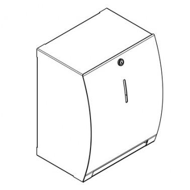 Dispensador de toallas de papel en níquel acabado satinado modelo STRATOS marca Franke