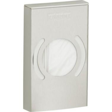 Dispensador de bolsas higiénicas a pared en acero inoxidable acabado satinado modelo STRATOS marca Franke