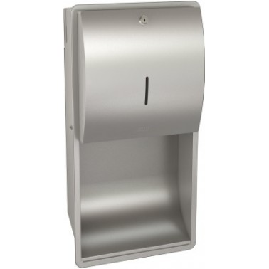 Dispensador de toallas de papel empotrado de acero inoxidable acabado satinado modelo STRATOS marca Franke