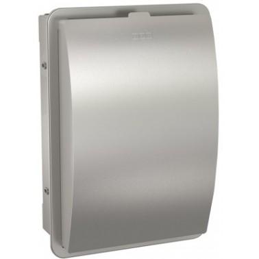 Contenedor de bolsas higiénicas fabricado en acero inoxidable acabado satinado modelo STRATOS marca Franke