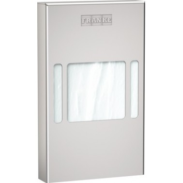 Dispensador de bolsas higiénicas a pared en acero inoxidable acabado satinado modelo RODAN marca Franke