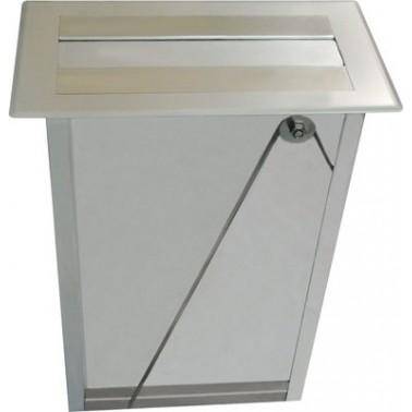 Dispensador de toallas de papel empotrado frontal/vertical en acero inoxidable modelo RODAN marca Franke