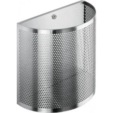 Papelera fabricada en acero inoxidable con posibilidad de colgar a la pared capacidad de 22 litros marca Franke