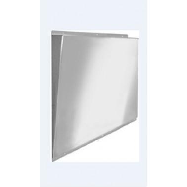 Espejo fabricado en acero inoxidable con superficie pulida reflectante de 460x528x62mm marca Franke
