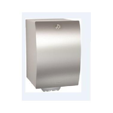 Dispensador de toallas de papel en rollo de acero inoxidable acabado satinado modelo STRATOS marca Franke