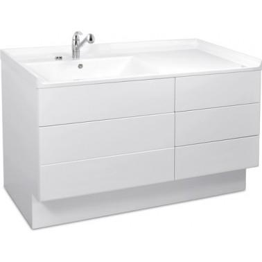 Mueble de aseo para bebes compuesto de un lavabo y cambiador modelo MIRANIT marca Franke