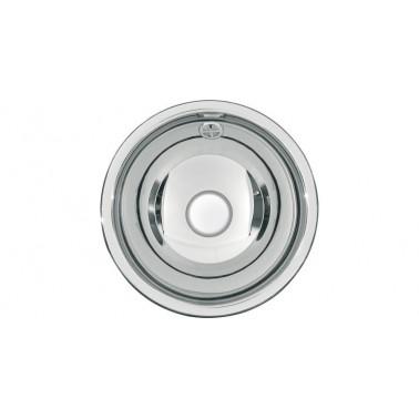Lavabo semiesférico fabricado en acero acabado satinado de 260mm de diámetro modelo RONDO marca Franke