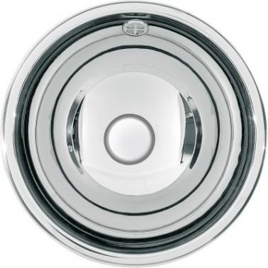 Lavabo semiesférico fabricado en acero acabado satinado de 300mm de diámetro modelo RONDO marca Franke