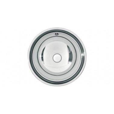 Lavabo semiesférico fabricado en acero acabado satinado de 357mm de diámetro modelo RONDO marca Franke