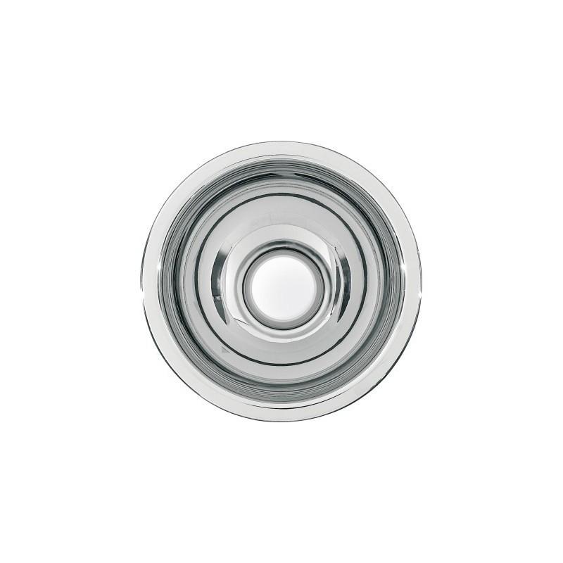 Lavabo semiesférico fabricado en acero acabado brillo de 200mm de diámetro modelo RONDO marca Franke