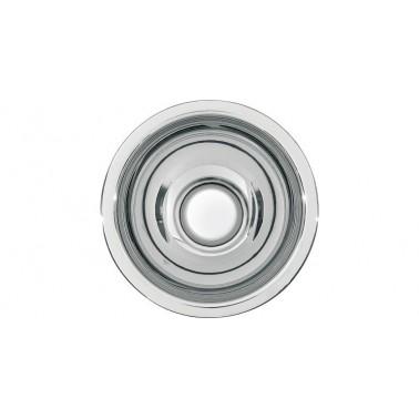 Lavabo semiesférico fabricado en acero acabado satinado de 200mm de diámetro modelo RONDO marca Franke