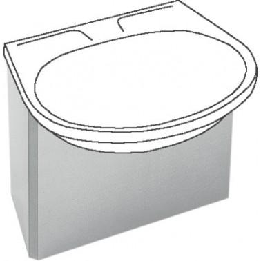 Revestimiento de sifón para lavabo BS204 y BS205 fabricado en acero pulido brillo modelo ANIMA marca Franke
