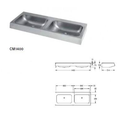 Lavabo con cuatro cubeta fabricado en acero de cromo-níquel modelo ANIMA marca Franke