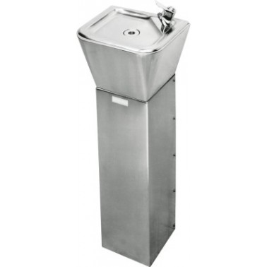 Fuente de agua a suelo o a pared fabricada en acero de cromo-níquel satinado modelo ANIMA marca Franke