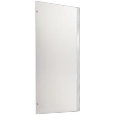 Panel separador de urinarios fabricado en acero de cromo-níquel acabado satinado marca Franke
