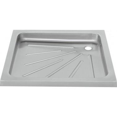 Plato de ducha encastrado fabricado en acero inoxidable acabado satinado de 900x900mm modelo Franke