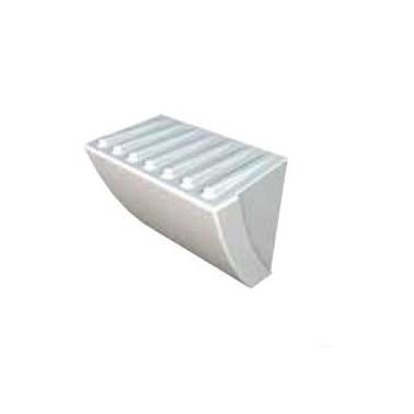 Compartimento para el gel fabricado en material mineral en color blanco marca Franke