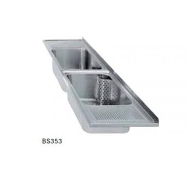 Fregadero para empotrar con dos cubetas y dos escurridores fabricado en acero inoxidable modelo SIRIUS marca Franke