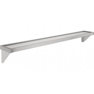Repisa a pared fabricada en acero de cromo níquel acabado satinado de 2100mm modelo SATURN marca Franke