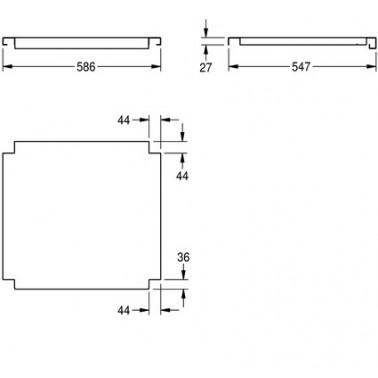 Estantería para fregaderos industriales fabricada en acero de cromo níquel acabado satinado de 600mm marca Franke