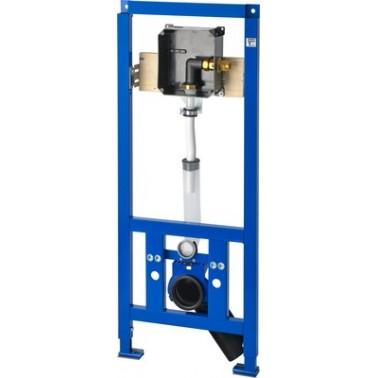 Bastidor para inodoros suspendidos con pre-instalación para fluxor empotrado modelo AQUAFIX marca Franke