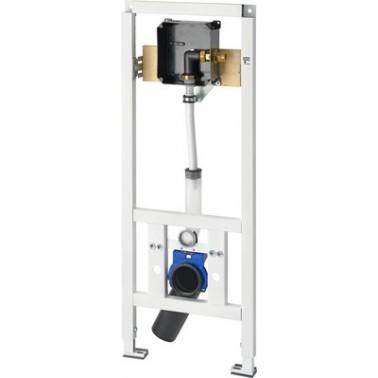 Bastidor para inodoros suspendidos de minusválidos con pre-instalación para fluxor empotrado AQUAFIX marca Franke