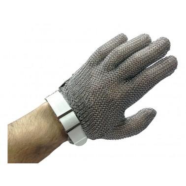 Guante de malla en acero inoxidable ambidiestro con cinta en la muñeca talla XS Fricosmos