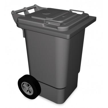 Contenedor de desperdicios con tapa y ruedas en color gris de 120 litros Fricosmos