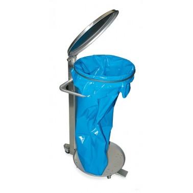 Contenedor para bolsas con tapa y ruedas Fricosmos