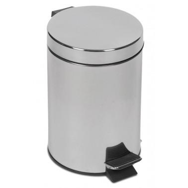 Cubo de pedal fabricado en acero inoxidable de 5 litros Fricosmos