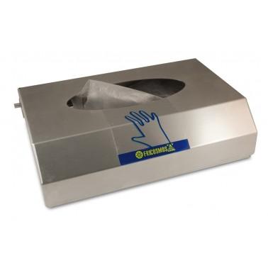 Dispensador de guantes fabricado en acero inoxidable acabado satinado Fricosmos