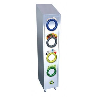 Contenedor de reciclaje de columna vertical fabricado en acero inoxidable Fricosmos