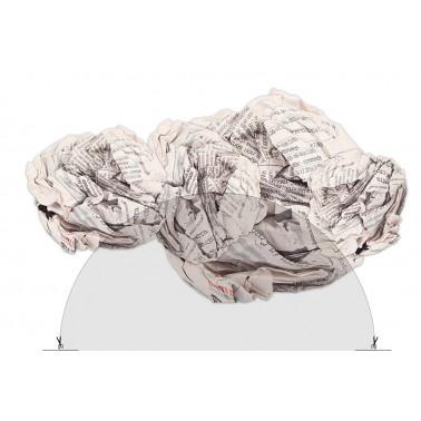 Adhesivo para indicar reciclaje de papel y cartón Fricosmos