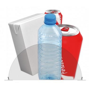 Adhesivo para indicar reciclaje de envases y plásticos Fricosmos