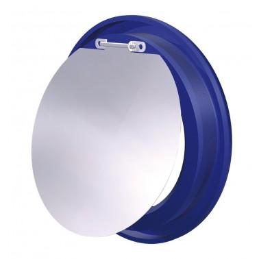 Aro azul con trampilla para contenedor de reciclaje vertical Fricosmos