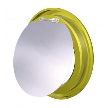 Aro amarillo con trampilla para contenedor de reciclaje vertical Fricosmos