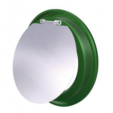 Aro verde con trampilla para contenedor de reciclaje vertical Fricosmos