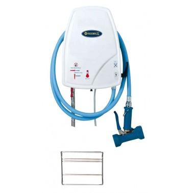 Kit de lavado y desinfección con soporte inoxidable para garrafa de 5 litros Fricosmos