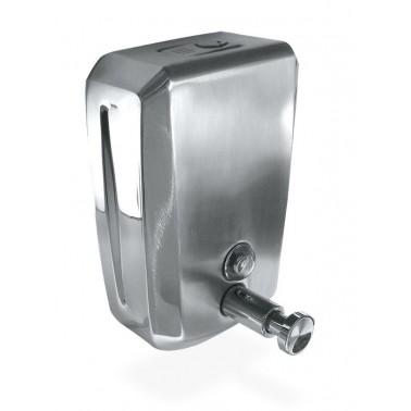 Dosificador de jabón fabricado en acero inoxidable con capacidad de 0'8 litros Fricosmos