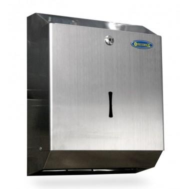 """Dispensador toallita """"Z"""" fabricado en acero inoxidable para 400/600 unidades Fricosmos"""