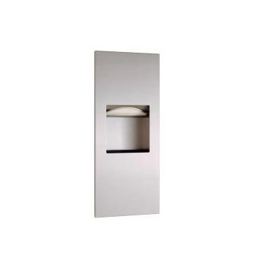 Dispensador de toallas de papel y recipiente de desechos para empotrar de sa serie TrimLine Bobrick