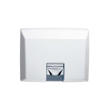 Secador de manos para empotrar acabado color blanco Bobrick