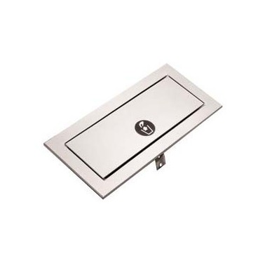 Puerta de desechos para empotrar en la encimera, serie TrimLine Bobrick