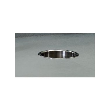 Vertedero circular de acero inoxidable acabado satinado Bobrick